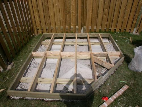 Tuinhuis fundering op tegels of betonbanden : Tuinhuis site : Goedkoop ...